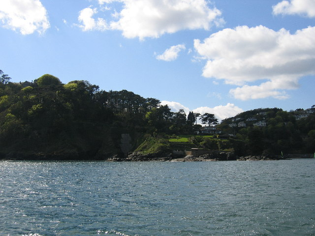 The interestingly named Stink Cove and Splatcove point near Salcombe