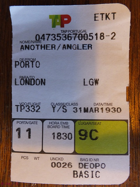 Porto, ticket from